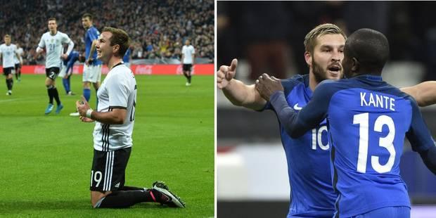 L'Allemagne écrase l'Italie, des Bleus séduisants, l'Angleterre s'incline malgré un but de Vardy - La Libre