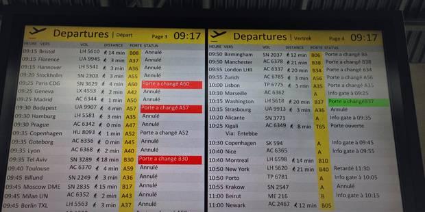 Belgocontrol: 41 vols annulés jeudi à Brussels Airport - La Libre