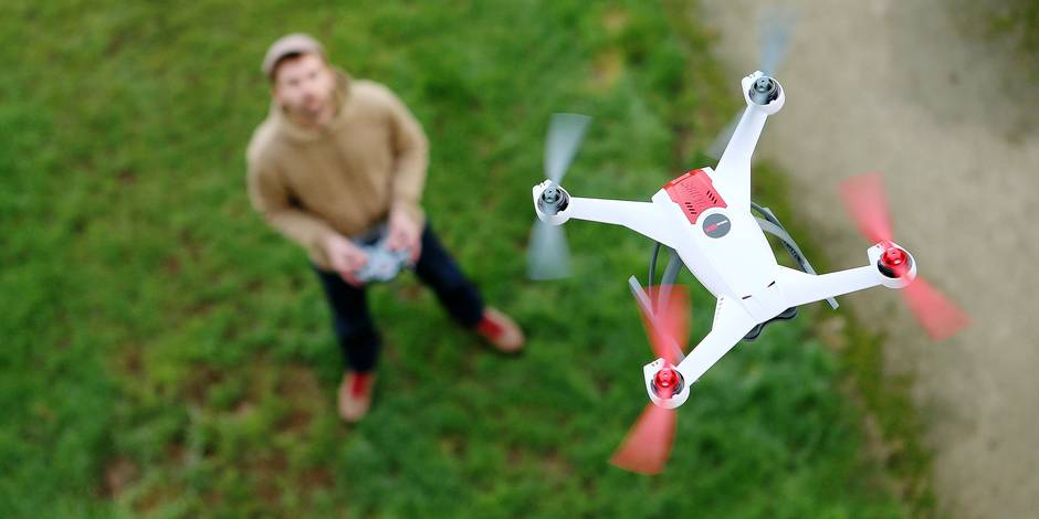 Generic illustration on the theme of recreational drones (unmanned aerial vehicles), January 2015.