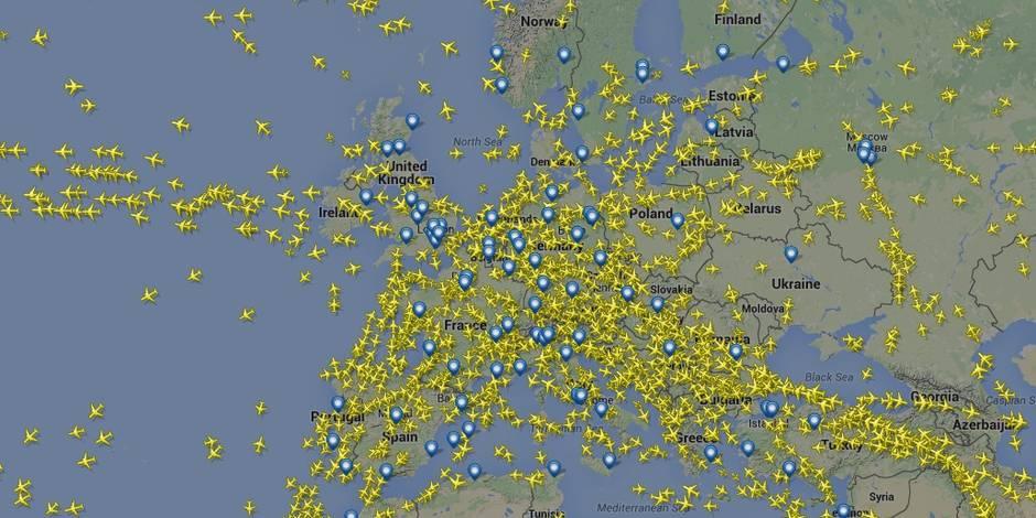 Combien d'avions volent chaque jour dans le monde? (Infographie)