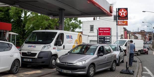 La pénurie de carburant en France, aubaine pour les pompistes belges - La Libre
