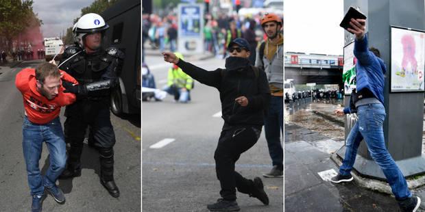Manifestation à Bruxelles : Malgré les 60.000 participants, le gouvernement maintient son cap (VIDEOS) - La Libre
