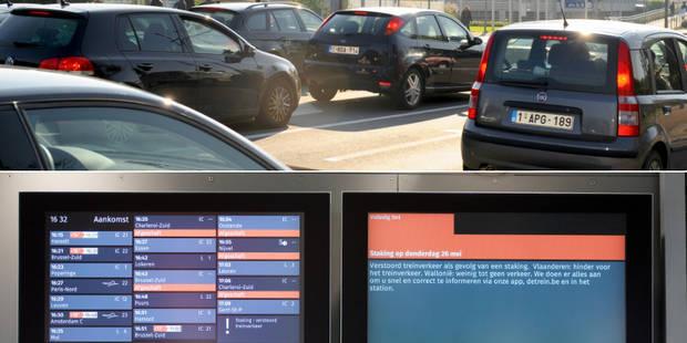 Grève sur le rail: Situation chaotique sur les routes à Bruxelles (PHOTOS) - La Libre
