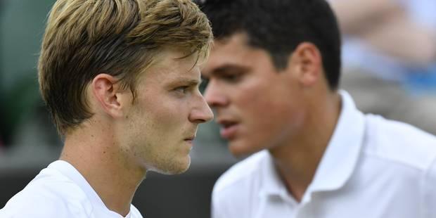 Wimbledon: après avoir remporté les deux premiers sets, Goffin chute contre Raonic - La Libre