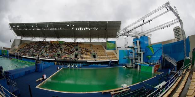 Eau verte du bassin à Rio: le mystère dévoilé - La Libre