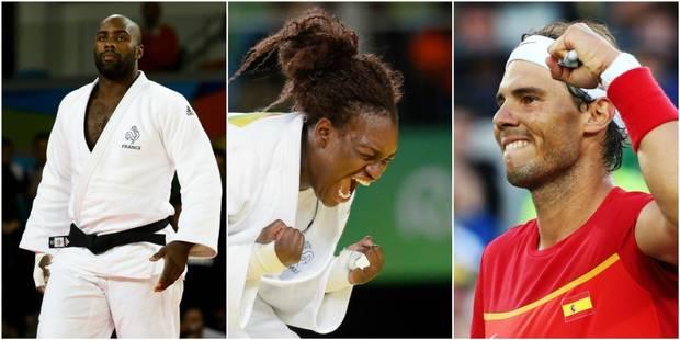 Cette nuit aux JO: Riner garde son titre, Wiggins dans l'histoire, Nadal en or - La Libre