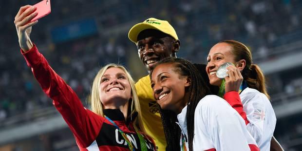 Nafi Thiam s'offre un selfie avec Bolt sur le podium (Photos) - La Libre
