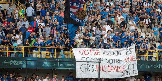 Banderole polémique au Jan Breydel Stadion: Bruges s'excuse - La Libre