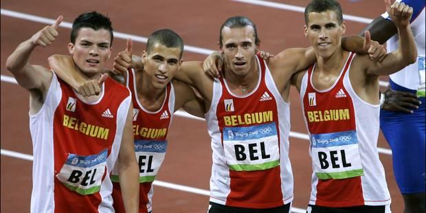 Le 4X400m belge va prendre la 4e place des JO 2008 de Pékin! - La Libre
