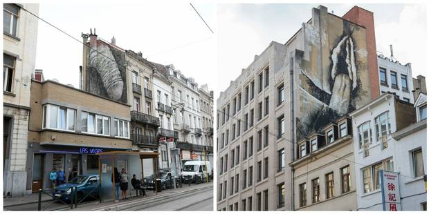 Ces fresques bruxelloises: de l'art ou du cochon? - La Libre