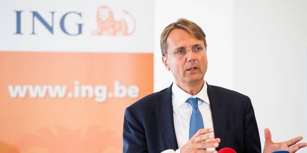 Le CEO d'ING espère réduire le nombre des pertes d'emplois annoncé - La Libre
