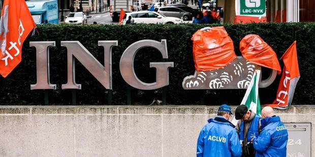 ING: le front commun syndical dépose un préavis de grève et d'actions - La Libre