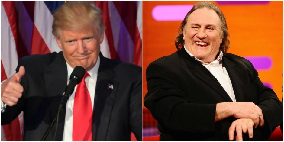 """Depardieu: """"Contrairement à Bush, Trump n'est pas un abruti"""""""