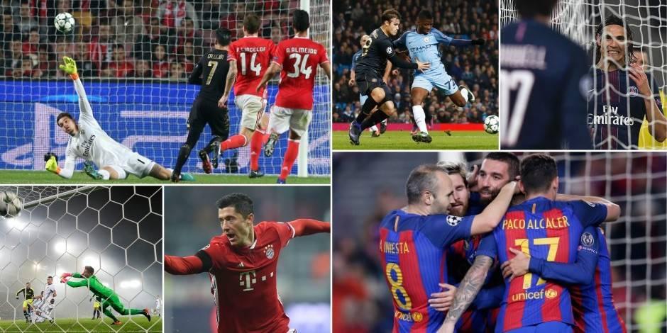 Cartons pleins pour Arsenal, le Barça et Kiev, frayeur pour le PSG contre Ludogorets, le Bayern s'offre l'Atlético et Naples Benfica
