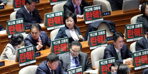 Corruption en Corée du Sud: les députés lancent la procédure de destitution contre Park Geun-Hye - La Libre