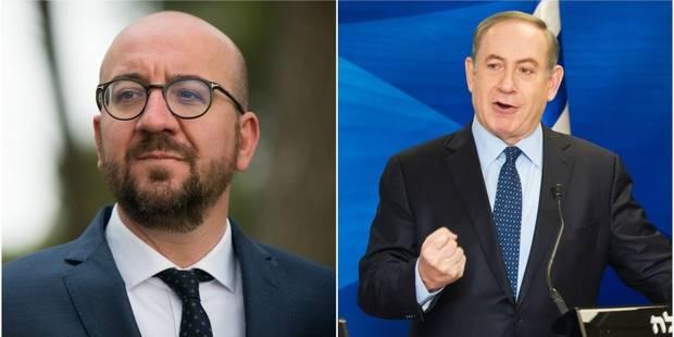 La rencontre entre Charles Michel et deux organisations controversées fâche Netanyahu - La Libre