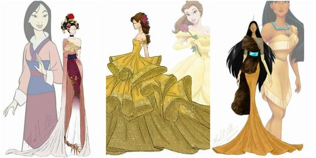 Voici La Version Haute Couture Des Robes De Princesse Disney