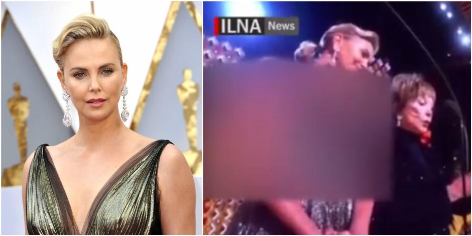 """Charlize Theron """"rhabillée"""" par une télévision iranienne à cause de son décolleté"""
