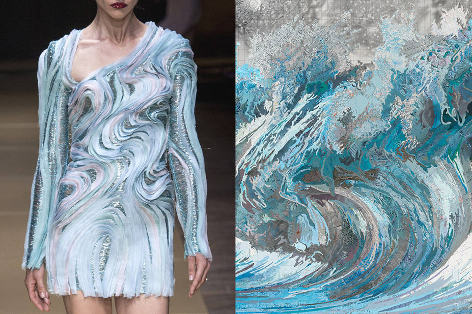 Atelier Versace Automne 2016 -  Genevieve's Wave, Matthew Cusick, 2014
