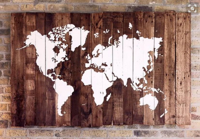 La carte sur bois