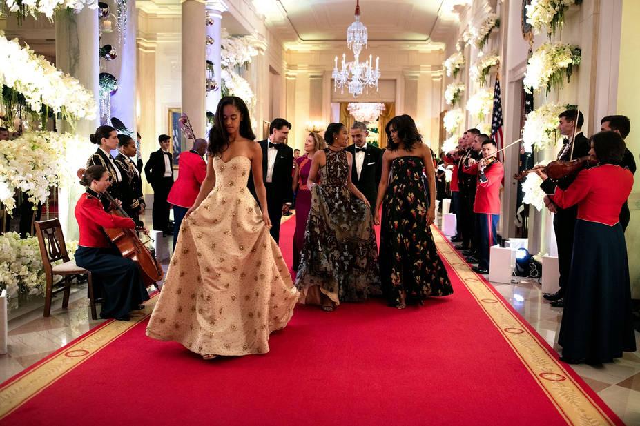 Robe de Bal. Dans une création Naeem Khan lors du Dîner d'Etat en l'honneur du couple Trudeau l'an passé.