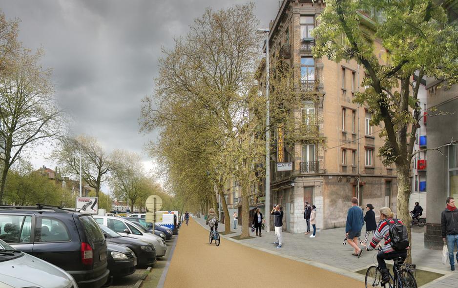 Boulevard du Midi / Avenue de la Porte de Hal entre Porte de Hal et Midi