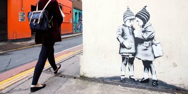 Une oeuvre très prisée de Banksy recouverte par erreur en Jamaïque - La Libre