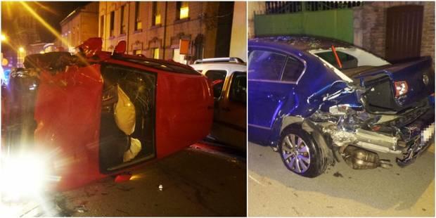 Forchies-la-Marche: une voiture sort de la route et endommage cinq véhicules (PHOTOS) - La Libre
