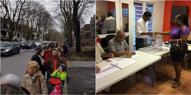 Présidentielle: les expatriés et la France d'outre-mer ont commencé à voter, les files s'allongent - La Libre