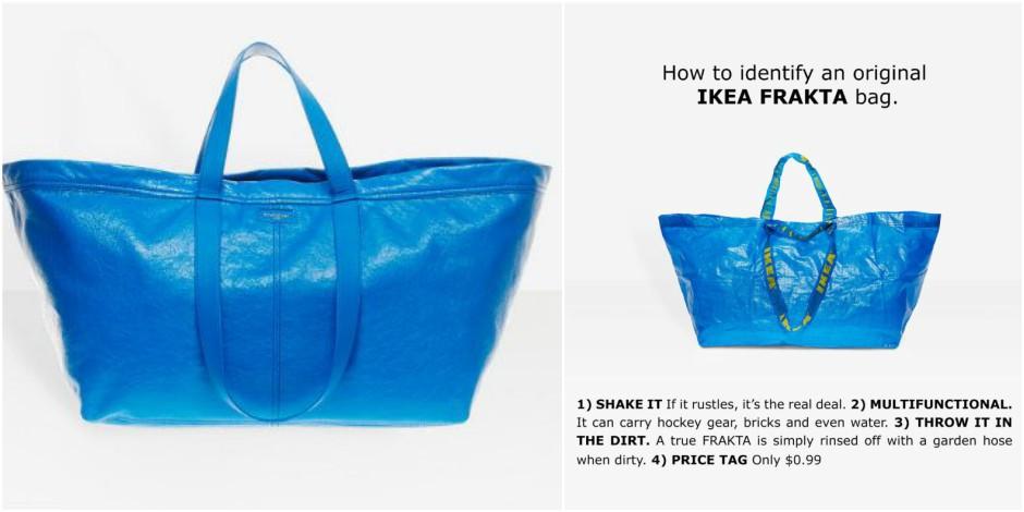 La réponse ironique d'Ikea au fameux sac bleu Balenciaga