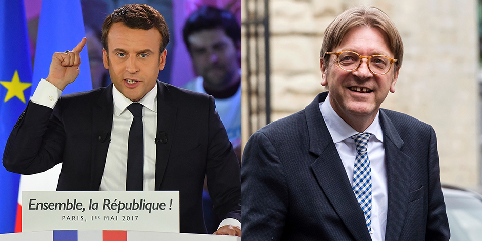 Emmanuel Macron viendra renforcer la famille libérale européenne de Verhofstadt