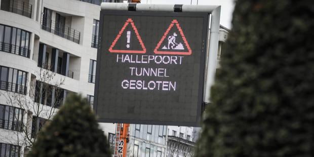 Le tunnel Porte de Hal totalement fermé pour rénovation - La Libre