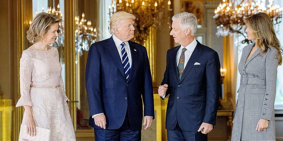 US President Donald Trump in Belgium