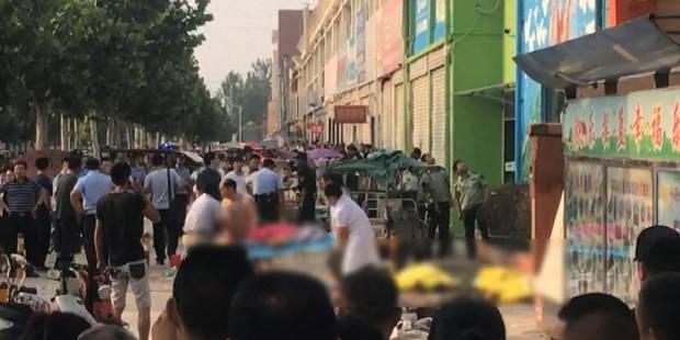 Une bombe artisanale à l'origine de l'explosion devant une école maternelle en Chine, l'auteur tué - La Libre