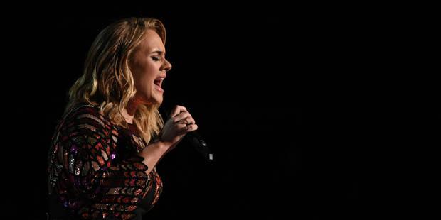 La chanteuse Adele laisse entendre qu'elle pourrait arrêter la scène - La Libre