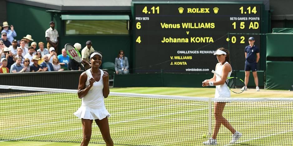 Wimbledon: Venus Williams jouera sa 9e finale à Wimbledon face à Muguruza !
