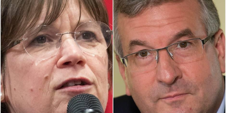 Alda Greoli et Pierre-Yves Jeholet, les nouvelles têtes du gouvernement wallon