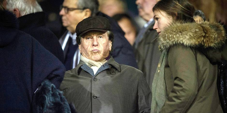 20151016 - MOUSCRON, BELGIUM: football agent Pinhas Pini Zahavi pictured at the Jupiler Pro League match between Mouscron-Peruwelz and KAA Gent, in Mouscron, Friday 16 October 2015, on day 11 of the Belgian soccer championship. BELGA PHOTO JASPER JACOBS