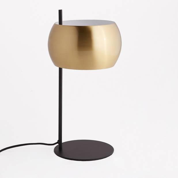 Lampe à poser métal noir et laiton, Elori, 119 euros.