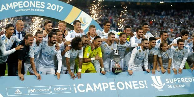 Real Madrid gagne la Supercoupe d'Espagne contre Barcelone, 7e trophée de l'ère Zidane - La Libre