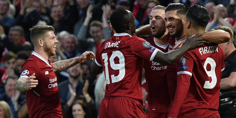 Barrages C1: Liverpool écrase Hoffenheim, Mignolet, Origi et... De Camargo et Pardo se qualifient pour la Ligue des Champions