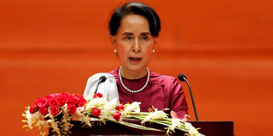 Edito: Aung San Suu Kyi, la tête dans le sable - La Libre