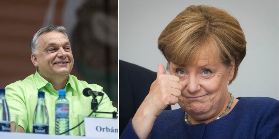 """Malgré les différends, Orban dit """"prier"""" pour la victoire de Merkel"""
