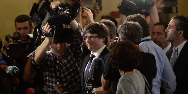 """Le président catalan """"ne sait pas où il va"""", selon le gouvernement espagnol - La Libre"""