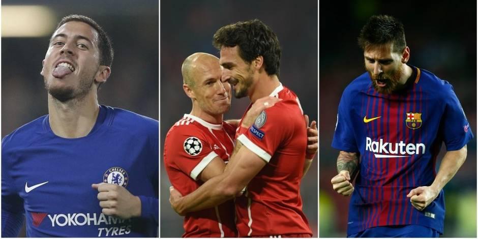 C1: Hazard et Courtois partagent contre la Roma, Lukaku continue son sans faute avec Man U