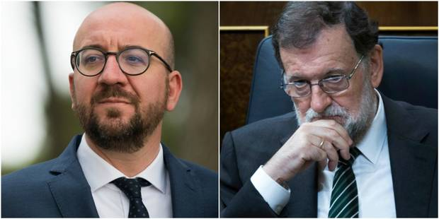 """Catalogne: Rajoy ne digère pas les déclarations de Charles Michel, qui """"maintient sa condamnation de la violence"""" - La L..."""