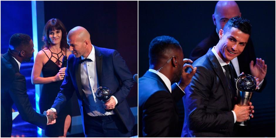 """FIFA Football Awards: Zidane meilleur entraîneur, Ronaldo meilleur joueur, Hazard et Lukaku absents du """"11"""" mondial"""