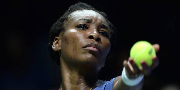 Masters: Venus Williams s'offre une première victoire au Masters depuis 8 ans - La Libre