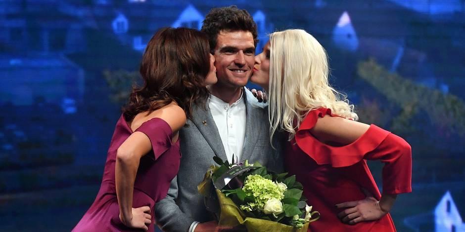 Greg Van Avermaet, couronné pour la 6e fois (la 5e fois de suite) au Trophée du Flandrien, devant Philippe Gilbert