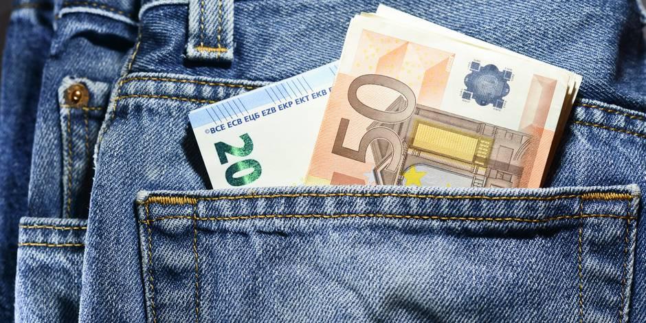 Voici combien d'argent le Belge a sur lui en moyenne